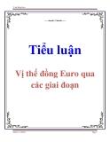 Tiểu luận: Vị thế đồng Euro qua các giai đoạn