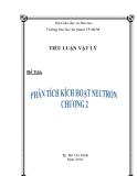 Tiểu luận: Phân tích kích hoạt Neutron