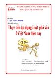 Tiểu luận: Thực tiễn áp dụng luật phá sản ở Việt Nam hiện nay