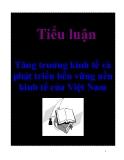 Tiểu luận: Tăng trưởng kinh tế và phát triển bền vững nền kinh tế của Việt Nam