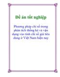 Luận văn : Phương pháp chỉ số trong phân tích thống kê và vận dụng vào tính chỉ số giá tiêu dùng ở Việt Nam hiện nay