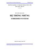 Đề cương bài giảng: Hệ thống nhúng