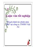 Luận văn: Hoạch định tài chính năm 2007 tại công ty TNHH Việt An