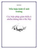 Tiểu luận kinh tế môi trường: Các biện pháp giảm thiểu ô nhiễm không khí ở Hà Nội