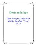 Đề án môn học: Đảm bảo vật tư cho DNSX  túi thêu thủ công  TUẤN NGA