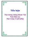 Tiểu luận: Thị trường chứng khoán Việt Nam hiện nay thực trạng và giải pháp