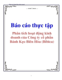 Báo cáo thực tập: Phân tích hoạt động kinh doanh của Công ty cổ phần Bánh Kẹo Biên Hòa (Bibica)