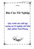 Báo cáo tốt nghiệp: Quy trình sản xuất lạp xưởng tại Xí nghiệp chế biến thực phẩm Nam Phong