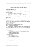 Chương 1: Các tính năng cao cấp của excel