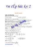 Bài tập ôn học kì 2 môn đại số lớp 10