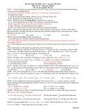 ĐỀ THI THỬ ĐẠI HỌC LẦN 7. Năm học 2010-2011 Môn: Vật Lý