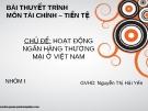Thuyết trình môn tài chính tiền tệ:  Hoạt động của ngân hàng thương mại Việt Nam