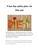 8 loại thực phẩm giảm cân hiệu quả