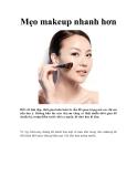 Mẹo makeup nhanh hơn