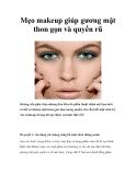Mẹo makeup giúp gương mặt thon gọn và quyến rũ