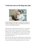 Tránh đau mỏi cơ khi dùng máy tính