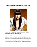 Xu hướng tóc dài trong năm 2011