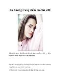 Xu hướng trang điểm mắt hè 2011