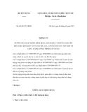 Thông tư số 03/2011/TT-BXD
