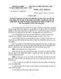 THÔNG TƯ VỀ VỆ SINH AN TOÀN THỰC PHẨM Số: 68/2010 /TT- BNNPTNT