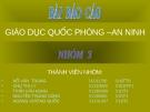 Báo cáo giáo dục quốc phòng : Một số nội dung cơ bản về dân tộc, tôn giáo và đấu tranh phòng chống địch lợi dụng vấn đề dân tộc và tôn giáo chống phá cách mạng Việt Nam