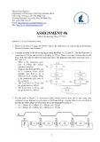 Đề thi môn:  ASSIGNMENT - 6