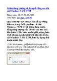 Giảm dung lượng sử dụng ổ cứng sau khi cài Windows 7 SP1 RTM