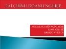 Bài giảng tài chính doanh nghiệp - Ths. Nguyễn Ngọc Minh