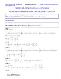 Tham khảo Toán: Tích phân hàm lượng giác