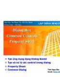 Lập trình windows - Dialog box common controls property sheet