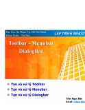 Lập trình windows - Toolbar Menubar Dialogbar