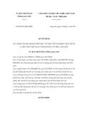 Quyết định số 08/2011/QĐ-UBND