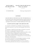 Quyết định số 524/QĐ-BNN-HTQT