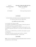 Quyết định số 57/QĐ-QLD