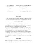Quyết định số 854/QĐ-UBND