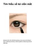 Tìm hiểu về kẻ viền mắt