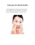4 thói quen cho một làn da khỏe