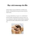 Học cách massage da đầu