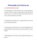 Phương pháp và kỹ thuật dạy học