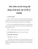Sửa chửa sai sót trong nội dung sổ hộ tịch, mã số hồ sơ 136558