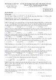 Đáp án và đề thi tốt nghiệp trung học phổ thông 2011 môn vật lý hệ giáo dục trung học phổ thông - Mã đề 139