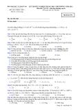 Đáp án và đề thi tốt nghiệp trung học phổ thông 2011 môn vật lý hệ giáo dục thường xuyên - Mã đề 974