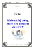 Luận văn: Khảo sát hệ thống nhiên liệu động cơ: 2KD-FTV