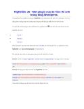 HighSlide JS - một plugin nữa để hiển thị ảnh trong blog Wordpress