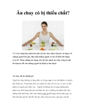 Ăn chay có bị thiếu chất?