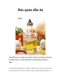 Bảo quản dầu ăn