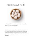 Giữ trứng sạch rất dễ