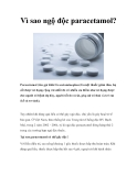 Vì sao ngộ độc paracetamol?