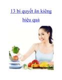 13 bí quyết ăn kiêng hiệu quả.