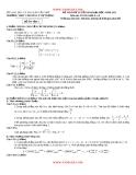 Đề thi thử toán Đại học  - THPT chuyên Lý Tự Trọng